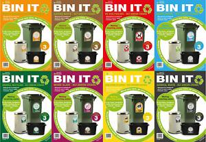 Wheelie Bin Self Adhesive Waterproof Quality Recycling Labels Indoor/Outdoor Use
