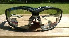 Maxx HD Motorcycle sunglasses Black clear lens foam 2.0 padding ATV mens womens