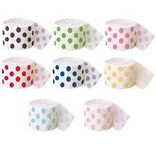 Polka Dots CREPE STREAMER {30'/9m}Spots Spotty Birthday Party Decoration Garland