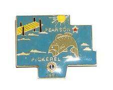 PIN/HATPIN Vintage Pearson Pickerel Wisconsin 1994 LIONS CLUB MEMORABILIA