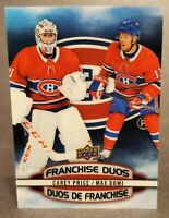 2019-20 Upper Deck Tim Hortons Franchise Duos #D-3 Carey Price Max Domi