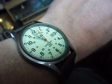 nice gents military style quartz  watch luminous dial