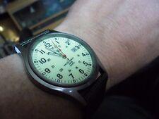 Reloj de Cuarzo buen Caballeros Estilo Militar Esfera Luminosa