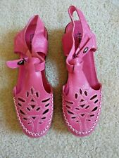 Pink Leather Cut-out Shoes, size 8.5-9 M by Beacon
