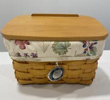 New ListingLongaberger Recipe Basket Box 2003 Liner Lid Cards Welcome Home Gathering