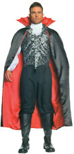 Vampire Cape Black & Red Adult Men's Costume 55 Inches Long Underwraps