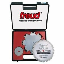 "NEW FREUD SD508 "" SUPER DADO"" TITANIUM CARBIDE 8"" SAW BLADE KIT 8"" SET IN CASE"
