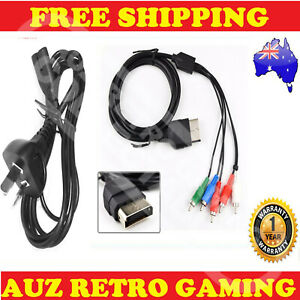 Power Supply & AV RCA Component Cable Cord Adapter for ORIGINAL XBOX Console