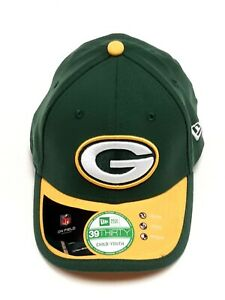 Green Bay Packers Cap Hat Youth New Era NFL Team Classic 39THIRTY Flex Fitted