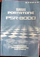 Yamaha PSR-8000 Workstation Keyboard Original Betriebsanleitung Buch, sehr groß!