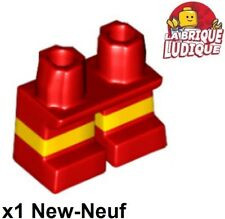 Lego - 1x jambe courte enfant Legs Short lisa jaune rouge/red 41879pb001 NEUF
