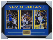 Kevin Durant Signed Golden State Warriors NBA Photos Framed 2018 NBA Champions