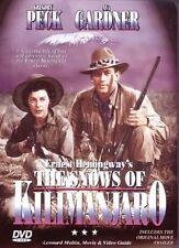 The Snows of Kilimanjaro DVD Susan Hayward Gregory Peck Ava Gardner New DVD