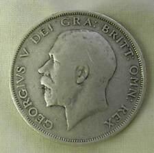 KING GEORGE V SILVER 1/2 CROWN 1914-KM #818.1 -V.F