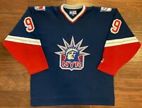 New York Rangers 1996-1998 Wayne Gretzky Lady Liberty Third 3rd Hockey Jersey XL