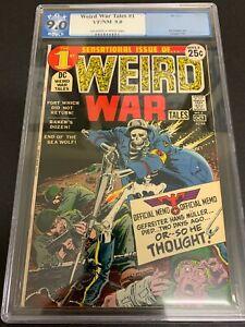 WEIRD WAR TALES #1 * PGX 9.0 * (DC, 1971)  LIKE CGC!  KUBERT ART & COVER!!