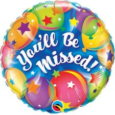 Official Party Product Qualatex 18 Inch Round Foil Balloon You'll Be Missed Gift