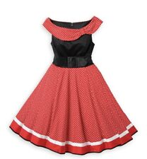 2019 New Disney Parks Minnie Mouse Black Red Dots Dress The Dress Shop 2X