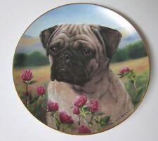 The Danbury Mint Prairie Pug Plate by Simon Mendez