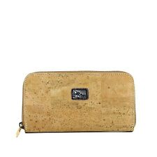 Cork Wallet Clutch Style Vegan Light Brown Cork