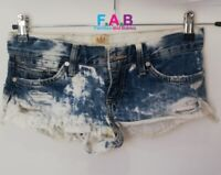 River Island Denim Shorts Women Ladies Blue Shorts Sexy Jeans Size 6 UK