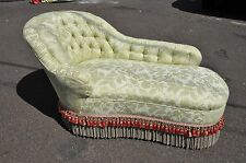 High End Custom Upholstered Victorian Chaise Lounge
