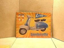 Repro 1960's Lambretta Embossed Advertising LI150 Scooter Sign 1997