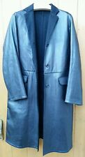 Nicole Farhi 100% Leather 100% Cashmere lining doublure coat Uk8