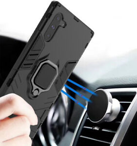 For Samsung Galaxy Note10 10+ Plus Magnetic Holder Armor Case+Car Phone Holder