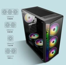 Mid-Tower ATX Case PC Laptop Game Chassis Compact With Cable Management System.