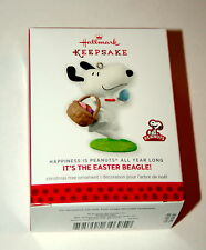 Hallmark Peanuts Snoopy It's The Easter Beagle Christmas Ornament 2014 New