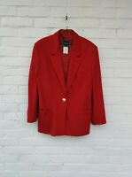 VERSACE Jeans Couture Wool Cashmere Red Women's Blazer Jacket Size 34/48