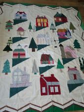 Vintage Quilt Top Old Home Styles Possibly a Kit ? 75 X 88
