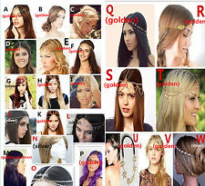 *Bohemian Women Metal Head Chain Jewelry Forehead Dance Headband Piece Hair band