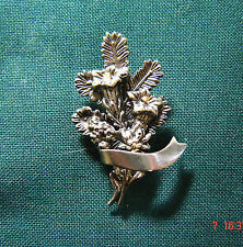 Anstecknadel Hutabzeichen Strauß Alpenblumen Edelweiß Enzian Alpenrose