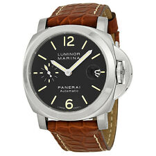 Panerai Luminor Marina Black Dial Automatic Mens Watch PAM00048