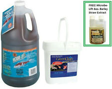 Microbe-Lift PL 1 gl and GreenClean 8 lb Plus FREE 8oz Barley Straw Extract