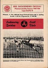 DDR-Liga 87/88 ZEPA Sajonia anillo Zwickau-BSG acero thale, 11.05.1988