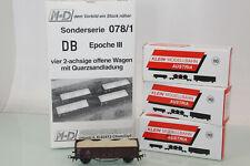 M+D Klein Modellbahn H0 078/1 4er Set Hochbordwagen 0mm DB OVP neuwertig(JS6815)