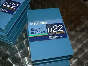 FUJIFILM Digital Betacam D321 D22 7 Stück Professional Videotape NEU