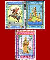 Algérie 1966 Art Paintings cheval Horse Costume neuf ** MNH, YT 434-436 Mi 464-6