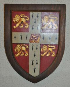 Vintage Cambridge University wall plaque shield crest coat of arms