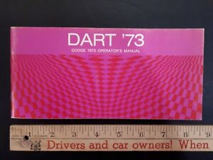 1973 DODGE Dart - Original Owners Manual - Excellent Condition (NOS) (US)