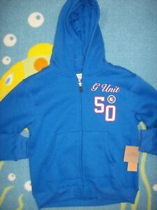 G-Unit Hoodie Boys Zip Front 5 Sweatshirt Turkish Sea Blue G-Unit Co 50 Ribbed
