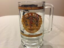 New listing Vintage Smith & Wesson 1996 Glass Beer Mug Stein 2 Revolvers (640 & Sw 380)