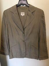 Armani Collezioni Black/White Small Houndstooth 2 Button Blazer - Size 12