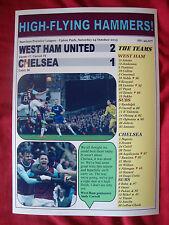 West Ham United 2 Chelsea 1 - 2015 - souvenir print