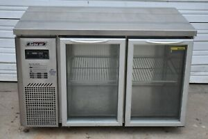 """TURBO AIR JUR-48-G 48"""" UNDERCOUNTER COOLERwith 2 GLASS SWING DOORS"""