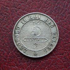 Belgium 1898 copper-nickel 5 centimes