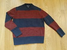 Boys Gap stripe lightweight cotton sweater Navy and Red size S Small 6-7